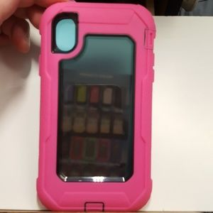 """Case fullcover for iphone XR 6.1"""" pink-black new"""